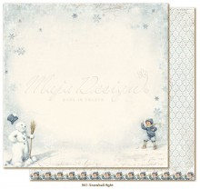 "Бумага из коллекции Joyous Winterdays ""Snowball fight"" (Maja Design)"