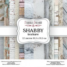 "Набор фоновой бумаги Background #5 ""Shabby Texture"", 12 листов + Бонус (Фабрика декору, Украина)"