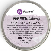 Восковая паста Opal Magic Wax, цвет Blue Velvet, 20 мл, дизайнер Finnabair (Prima Marketing)