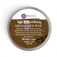 Восковая паста Metallique Wax, серия Art Alchemy, цвет Bronze Age (Старая бронза), 20 мл, дизайнер Finnabair (Prima Marketing)