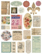 "Стикеры из кардстока ""Air Mail Ephemera"" из коллекции ""Vintage Attic"" (Melissa Frances)"