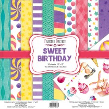 "Набор бумаги из коллекции ""Sweet Birthday"", 10 листов + Бонус (Фабрика декору, Украина)"